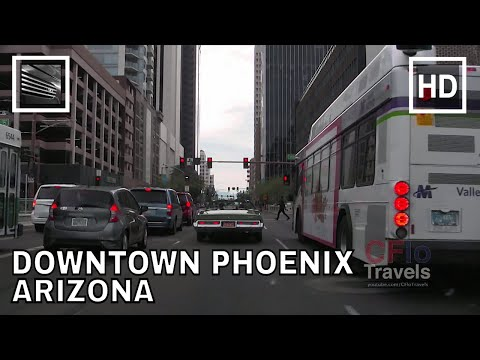 Driving Downtown - Phoenix, Arizona - USA