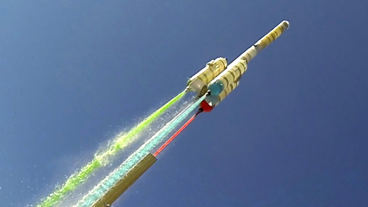 water rocket with boosters axion g2 youtube