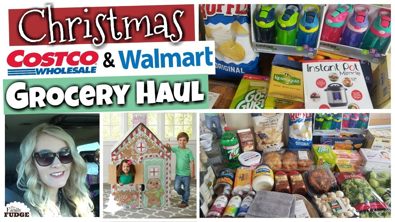 cc8efd4cfed Christmas Dinner Grocery Haul 🎄 HUGE Costco   Walmart Haul - YouTube
