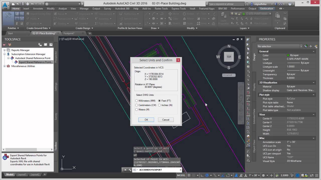 Accessing the Shared Reference Point Extension for AutoCAD Civil 3D
