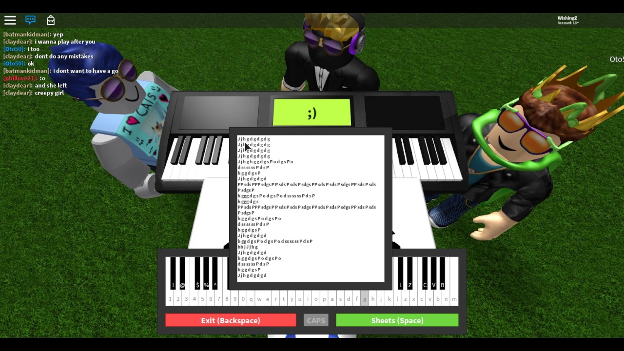 Once I Was 7 Years Old Roblox Piano Free Robux Games On Ipad