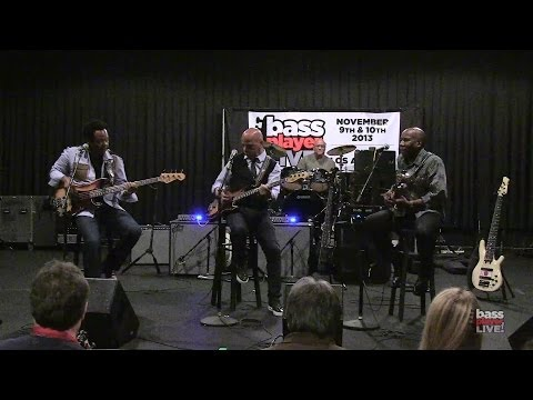 Rickey Minor, Freddie Washington, and Nathan East at Bass Player LIVE! 2013