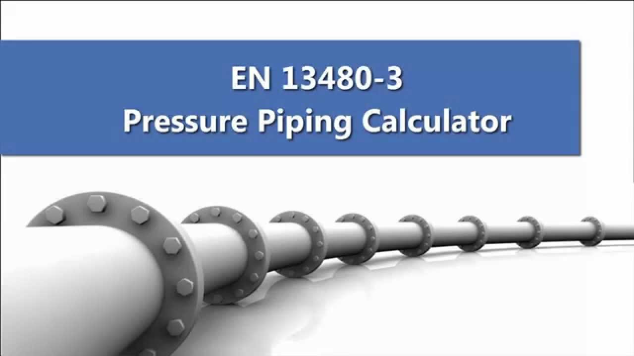 EN 13480-3 Pressure Piping Calculator [version 2017] - ONLY 49€ !!! -  YouTube