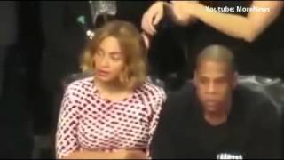 Beyonce Acting Strange at Brooklyn Nets Game (VIDEO) Jay Z & Beyonce Illuminati