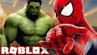 SPIDERMAN VS HULK EN ROBLOX Roblox - Superhéroe Brawl
