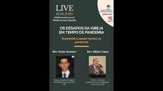 """Transmissão da Live do Instagram - """"Os Desafios da Igreja em Tempo de Pandemia"""" - 18JUN20"""