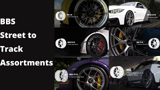 Wheel candy anyone?  Check out this awesome assortment of BBS Wheels featured on an array of the highest performance vehicles in the industry.  Featured in this video are the following wheels:  Purple Porsche-  BBS FI-R in Platinum Silver finish White BMW