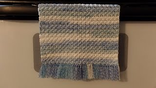 CROCHET #How To #Crochet Cotton Moss Stitch  Dish Towel Hand Towel #TUTORIAL #328