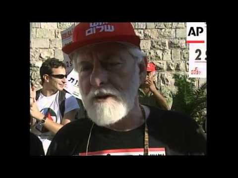 JERUSALEM: PEACE ACTIVISTS PROTEST