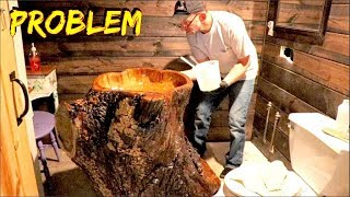 CHEAP but BEAUTIFUL Bathroom remodel.  Problems with the LOG sink