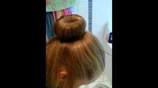 """Tuto coiffure"" chignon avec donut"