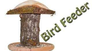 Log Bird Feeder