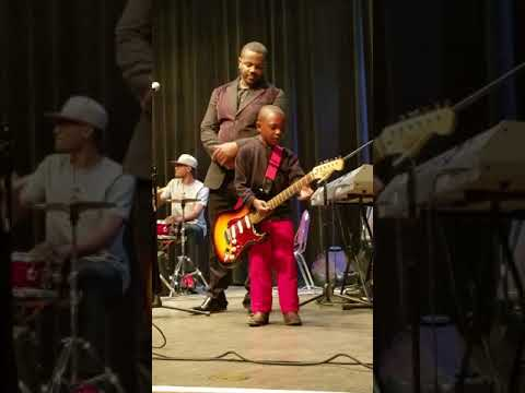 My grandson playing with Tim Rogers and the Fellas in Vidalia Ga. and the spirit of God moved on him