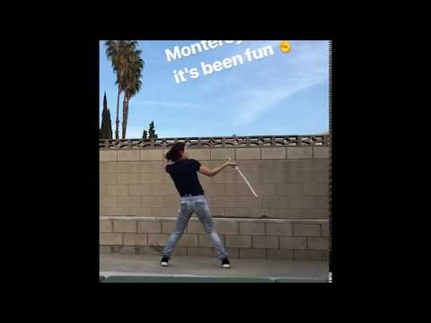 Jessica Henwick  Training with a sword on Instagram