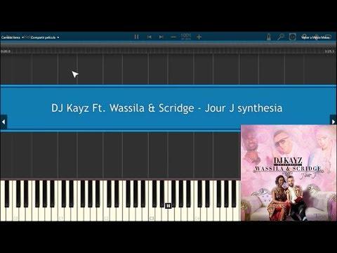 Jour J - DJ Kayz Ft  Wassila & Scridge  Piano cover Synthesia