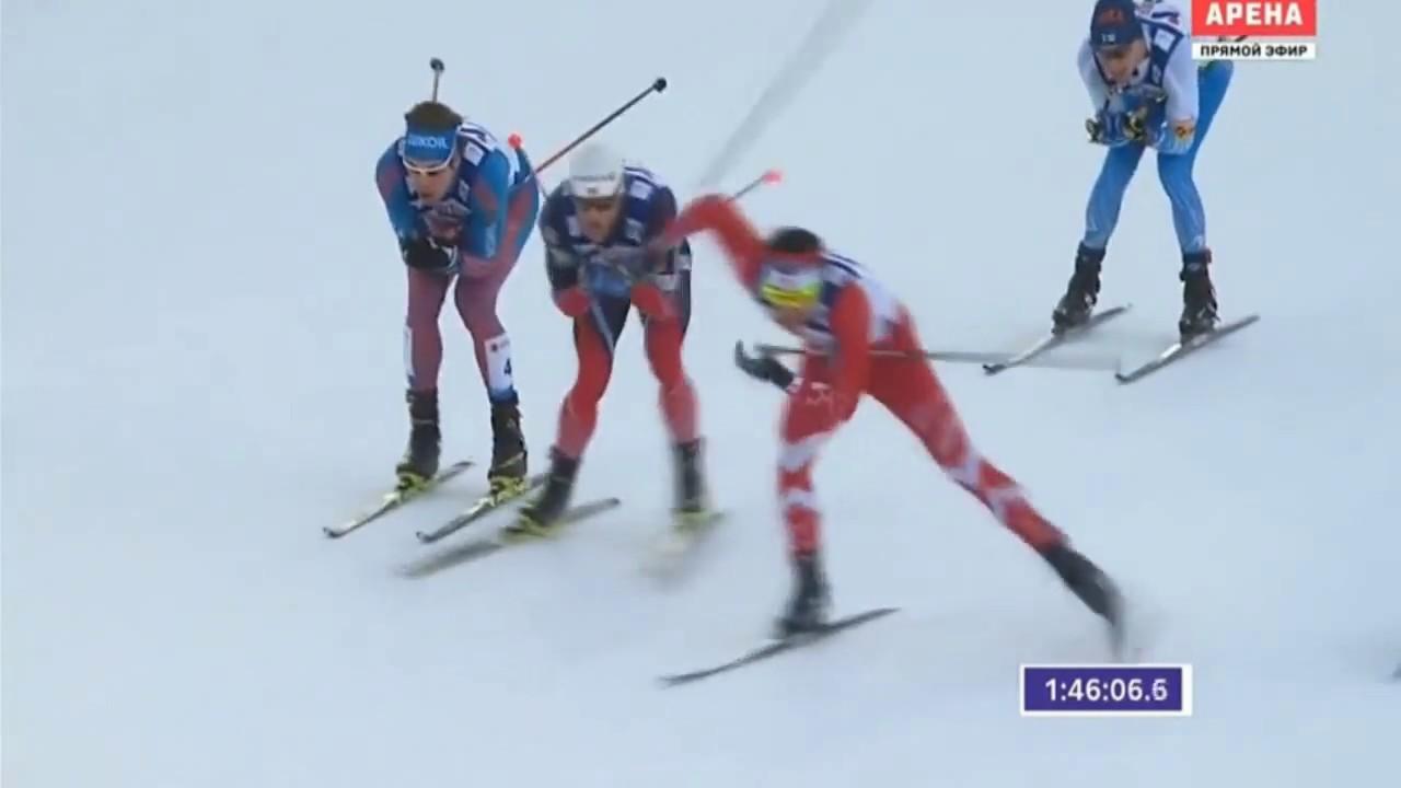 Зимние олимпийские игры сочи лыжные гонки 50 км мужчины финишная прямая.