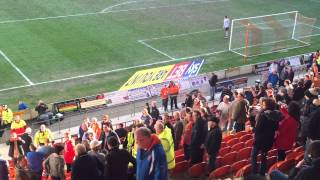 Blackpool fans fighting against Leeds fans