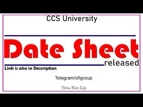 Date Sheet   Scheme   CCS University   Complete Update   Online Form Info