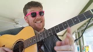 How To Play The Banjo Beat Ricky Desktop // easy guitar tutorial beginner lesson