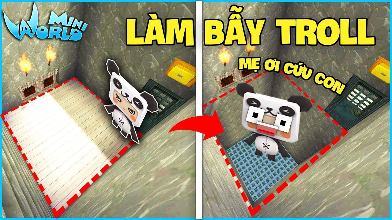 Mini World : Block Art*CÁCH LÀM BẪY TROLL TRONG MINI WORLD*GUMBALL MINI WORLD