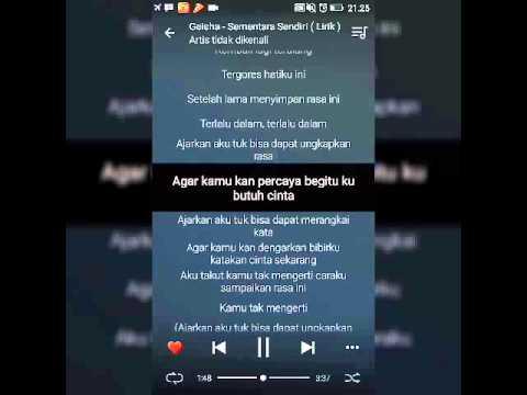 Lirik OST. SINGLE [GEISHA - Sementara Sendiri]