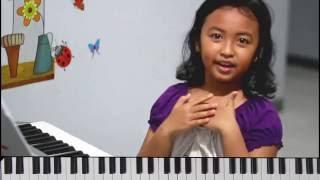 tutorial keyboard farah lagu lightly row   nursery rhymes