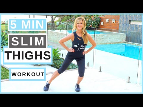 5-Minute Thigh Slimming Workout For Mature Women Over 50!