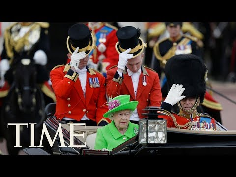Trooping The Colour Parade To Mark The Queen's  Birthday & Other Celebrations  TIME