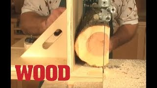 Resawing Found Wood with a Bandsaw Jig - WOOD magazine