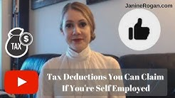 Tax Deductions You Can Claim If You're Self Employed