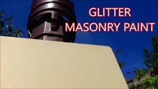 Glitter Wall Adding Paint Glitter To Masonry Paint
