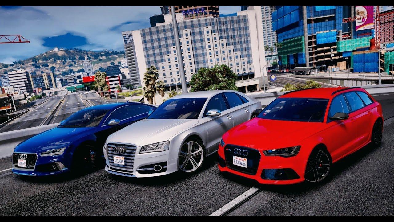 GTA 5 MOD REDUX | Audi RS6 vs Audi RS7 vs Audi S8 - 2016 ...