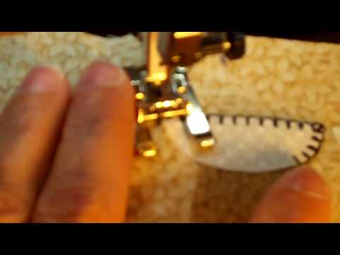 Machine Blanket Stitch On Fused Applique YouTube Awesome Applique Stitch Sewing Machine