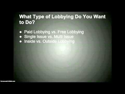 How to Become a Lobbyist