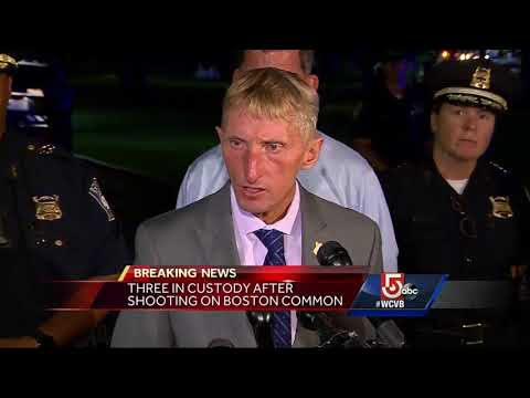 Three in custody after shooting on Boston Common