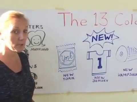 How to Memorize the Names of the 13 Colonies