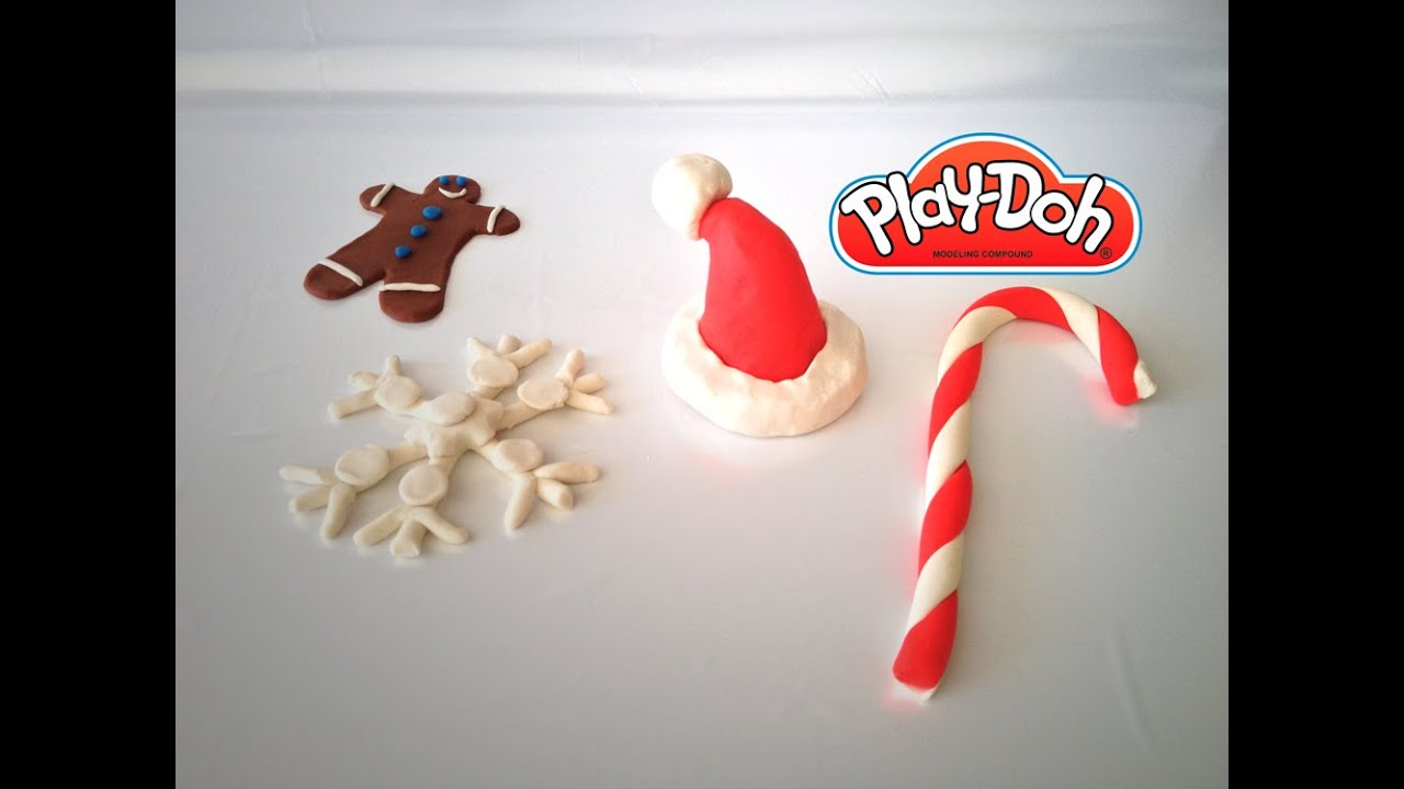 Massinha PlayDoh Christmas Ornaments Ornamentos de Natal com