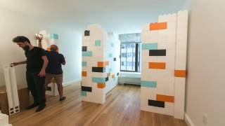 EverBlock Apartment Divider Wall Time Lapse