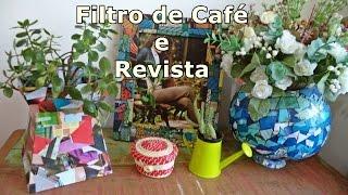 Como fazer Vaso com Caixa de Filtro de Café e Revista – Graça Tristão