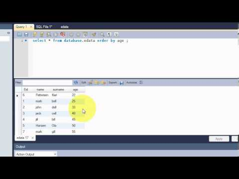 Beginners MYSQL Database Tutorial 7# SQL ORDER BY Keyword Statement Query