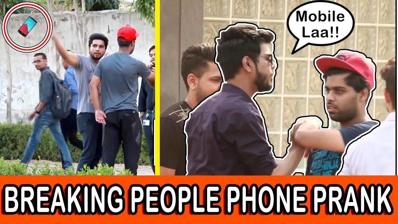 BREAKING People's Phone Prank   Pranks in India   TroubleSeekerTeam
