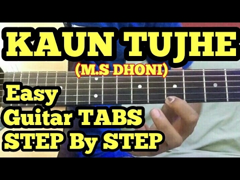 Kaun Tujhe Guitar Tabs/Lead/Solo Lesson | M.S Dhoni | String Bending Lesson in Hindi | fuZaiL Xiddi