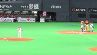 2014年8月21日 西崎幸広 の投球でした!