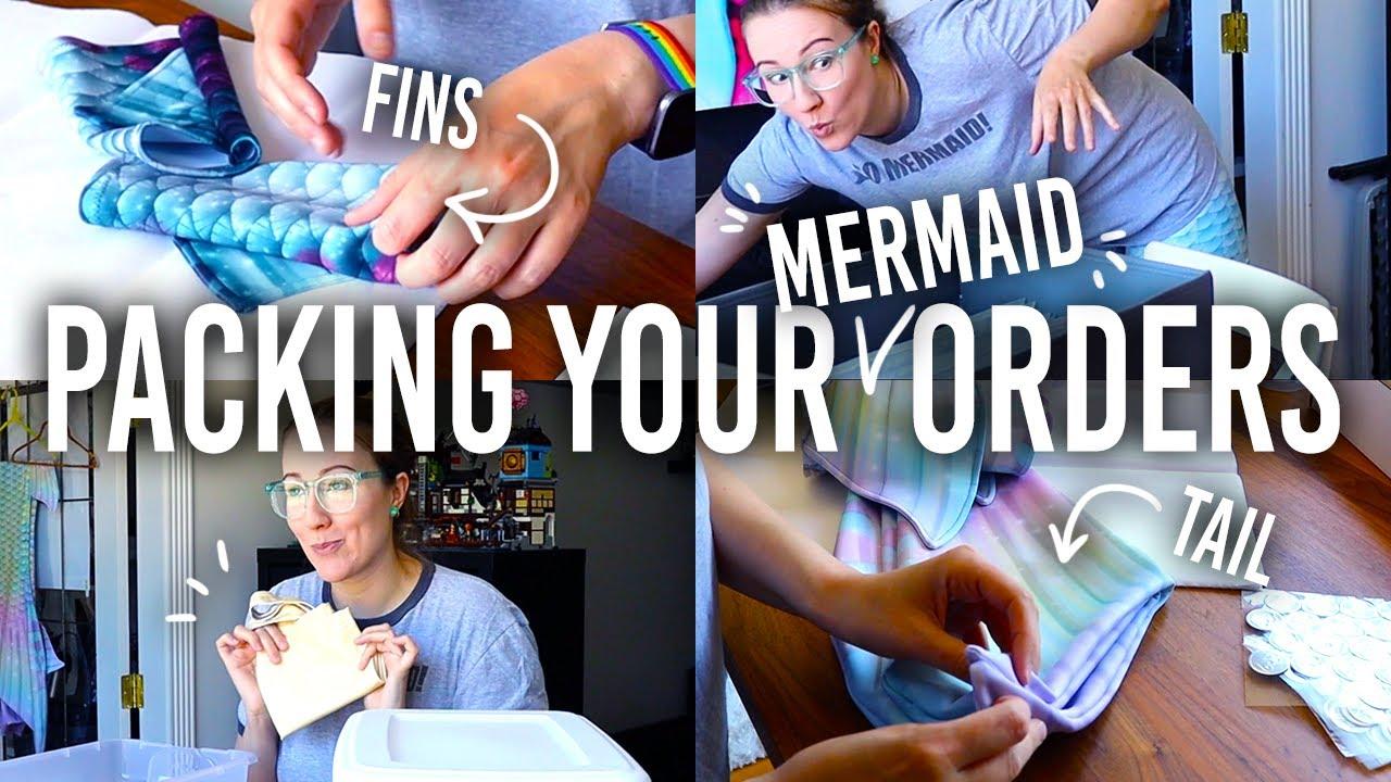 Download How I Package Your Mermaid Orders // mermaid studio vlog