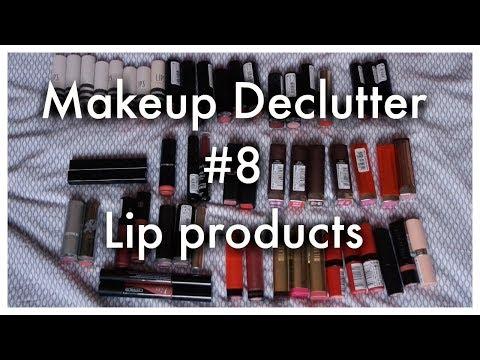Makeup declutter | lip balm, lipgloss, lipstick, liquid lipstick