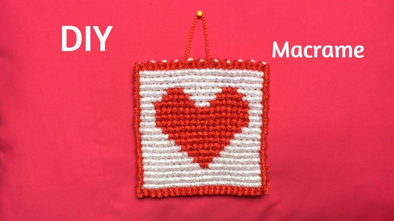 DIY Macrame Corazón
