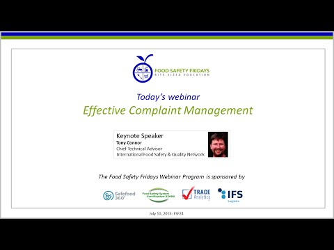Effective Complaint Management