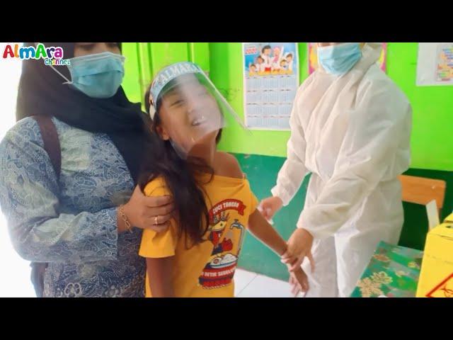 Muka Tegang Dan Jerit Jerit Imunisasi Disekolah Alma