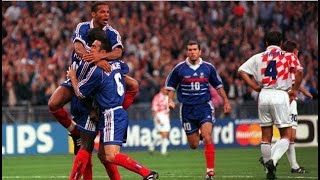 Франция Хорватия 2 1 Полуфинал Чемпионат мира 1998 France Croatia 2 1 Semi final World Cup 1998