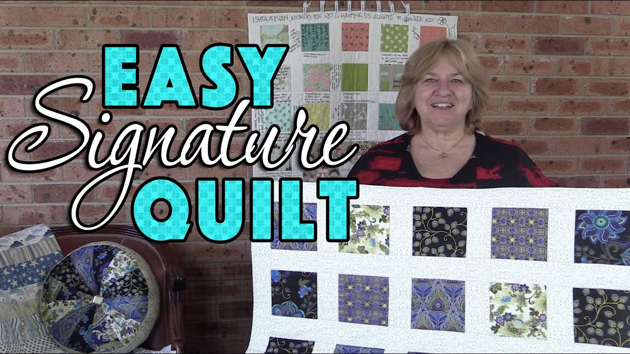 Quilting Tutorial: EASY Signature Quilt for Beginners (No Binding ...